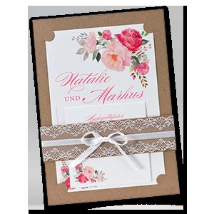 Hochzeitseinladungen Einladungen Hochzeit Vintage Rosa