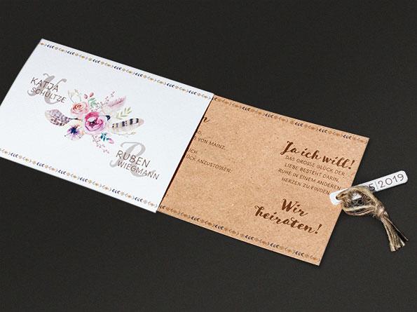 Hochzeitseinladungen Vintage – Ba727.011