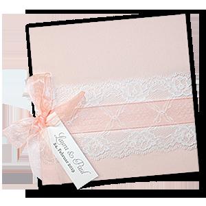 Rosa Hochzeitseinladungen Mit Spitze