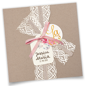 Hochzeitseinladungen drucken wir drucken eure texte in for Hochzeitseinladungen vintage mit spitze