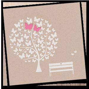 Vintage Einladungen Mit Schmetterlingen