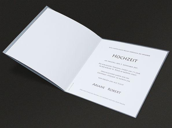 Deutsch-englische Hochzeitseinladungen - Detail 2 – vergrößerte ...