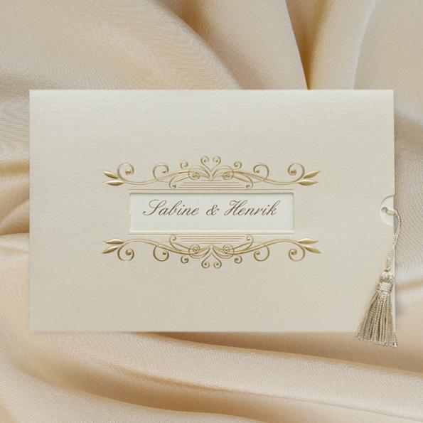 Hochzeitseinladungen in creme