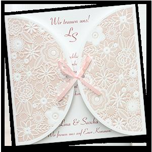 Schön Romantische, Rosa Einladungskarten