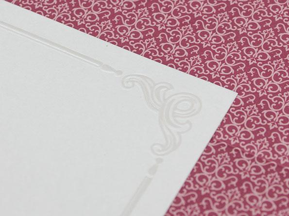 Klassische, edle Hochzeitseinladungen – RT2034