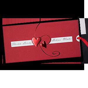 Rote Einladungskarten Zur Hochzeit